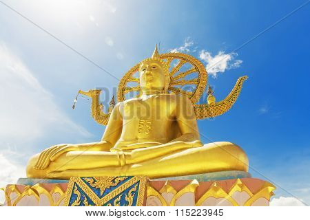 Wat Phra Yai, The Big Buddha Temple At Koh Samui