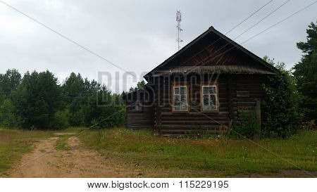 The russian village house