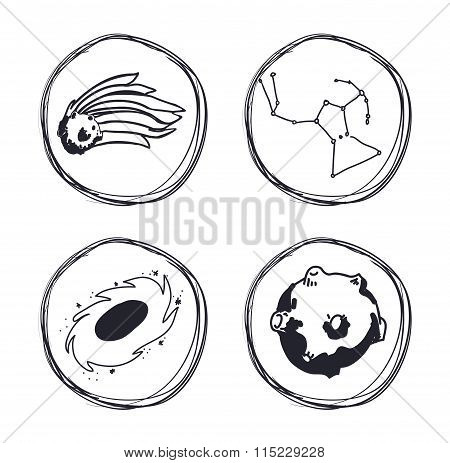 Space icons design