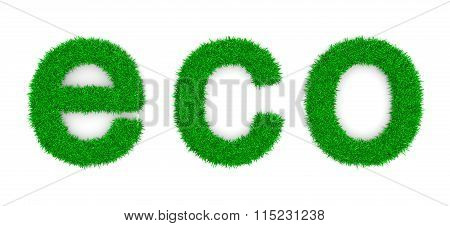 Grass Eco Text Sign Shape