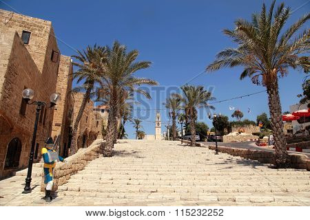 The Old Port City Of Jaffa In Tel Aviv, Israel.