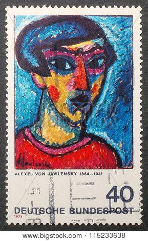 German Postal Stamp