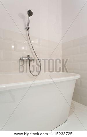 Modern And Sterile Bathtub