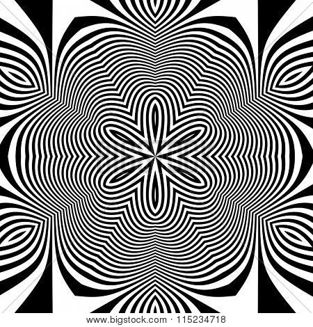 Black and White Background. Abstract Vector Illustration.