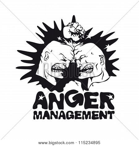 Two angry men. Anger management