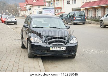 Black Automobile Chrysler Pt Cruiser