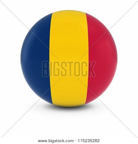 Chadian Flag Ball - Flag Of Chad On Isolated Sphere