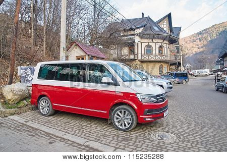 Two Tone Colored Volkswagen Multivan