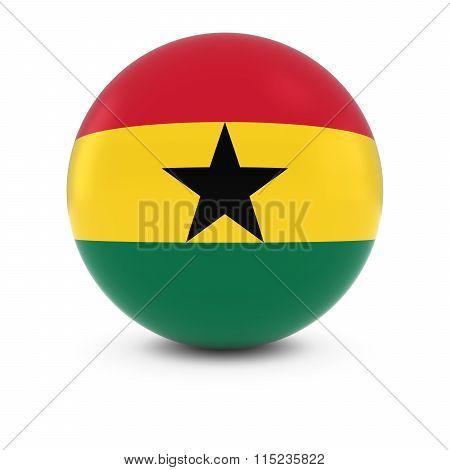 Ghanaian Flag Ball - Flag Of Ghana On Isolated Sphere