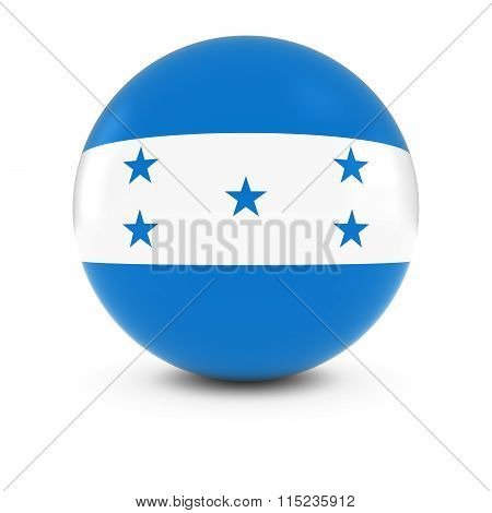 Honduran Flag Ball - Flag Of Honduras On Isolated Sphere