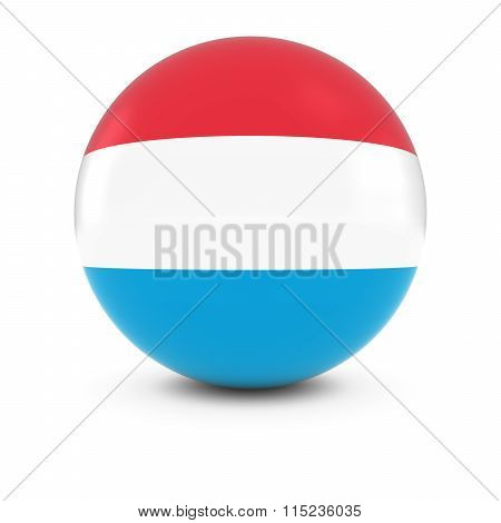 Luxembourgian Flag Ball - Flag Of Luxembourg On Isolated Sphere