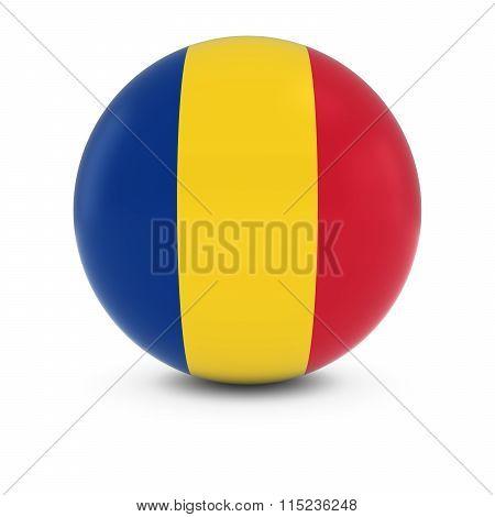 Romanian Flag Ball - Flag Of Romania On Isolated Sphere