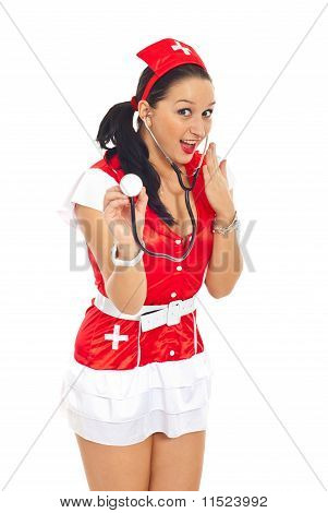 Surprised Sexy Nurse