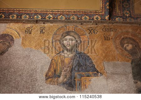 ISTANBUL,TURKEY - AUGUST 15, 2015: Tourists visit Hagia Sophia on August 15, 2012 in Istanbul, Turkey. Hagia Sophia is a former Orthodox patriarchal basilica, later a mosque and now a museum.