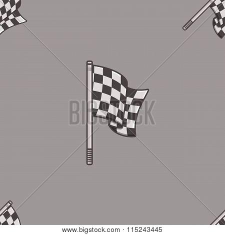 Vintage speed flag patern.