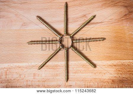 Octactinal Star From Screws.