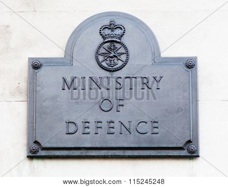 LONDON, UNITED KINGDOM - JANUARY, 2016: Ministry of Defense in Central London