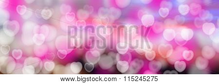Valentine's Day Abstract Hearts Background