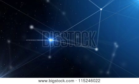 Blue abstract technology futuristic network - fantasy plexus background