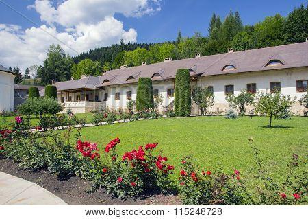 Putna Monastery Yard