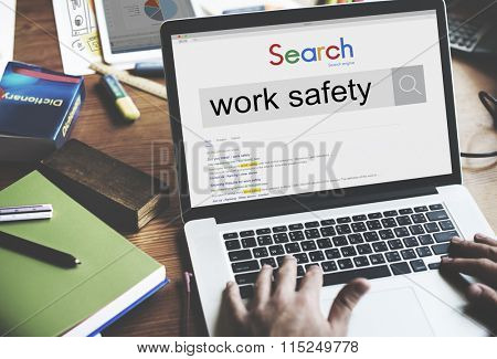 Work Safety Protection Caution Careful Health Danger Concept