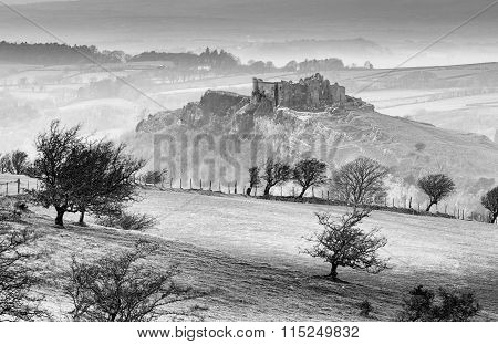 Winter at Carreg Cennen Castle