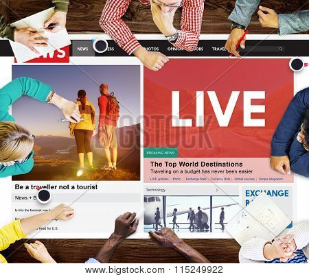 News Feed Article Journalism Live Concept