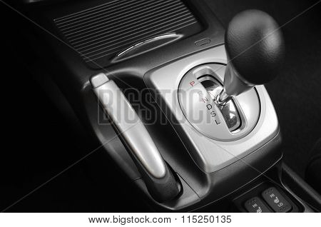 Gearshift In Black And White