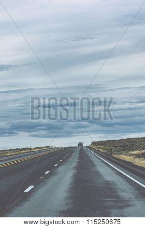clean highway road in america.