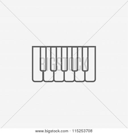 Octave, piano keys icon