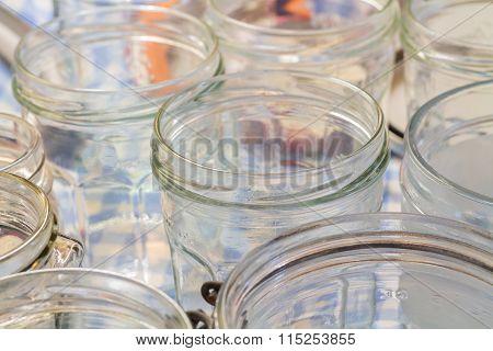 Glass Jam Jars
