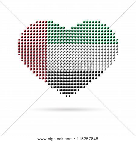I love UAE, Creative heart flag