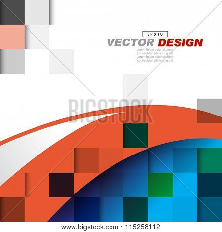 geometric checkered elements with bent thick lines corporate background