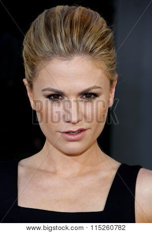 HOLLYWOOD, CALIFORNIA - June 21, 2011. Anna Paquin at the HBO's season 4 premiere of