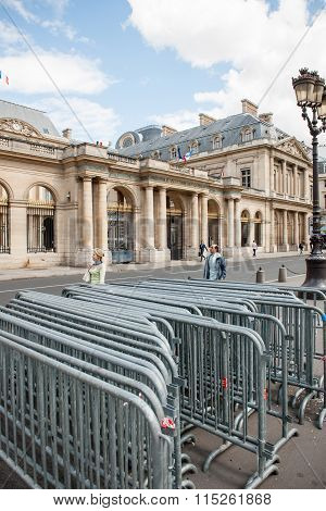 Anti-protest Fences Near Conseil D'etat - Council Of State Building