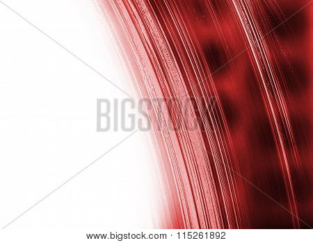 Red Abstract Structure With White Copy Space