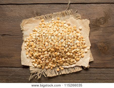Pile Of Split Yellow Peas