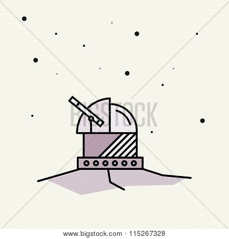 Astronomical Observatory.vector Illustration.