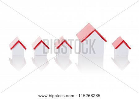 House Model Arranged In Row