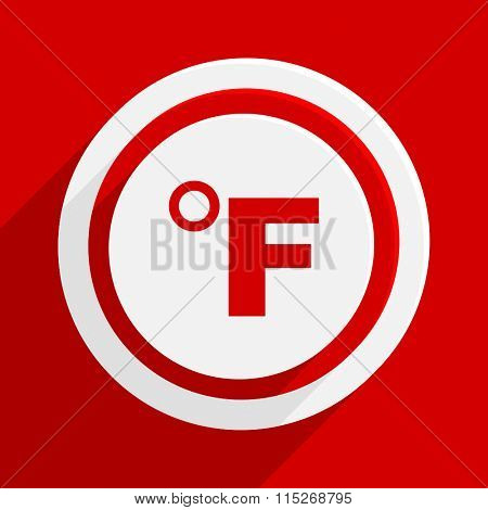 fahrenheit red vector flat icon