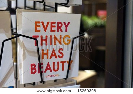 Every thing has beauty postcard
