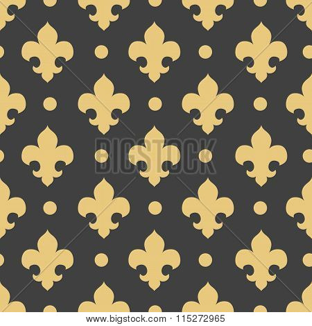 Vector Seamless Pattern Royal Lily, Royal Background