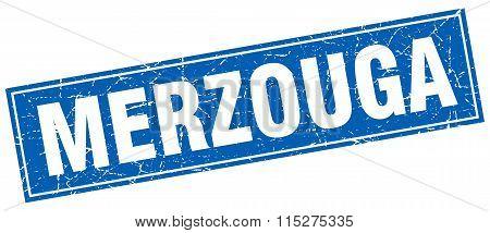 Merzouga blue square grunge vintage isolated stamp