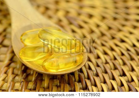 Spoonful Of Fish Oil Capsule.