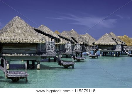 Traditional accommodation on Bora Bora