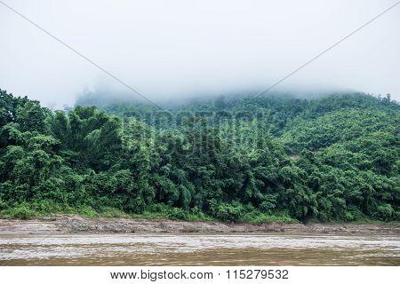 Phou Si Mountain in Laos