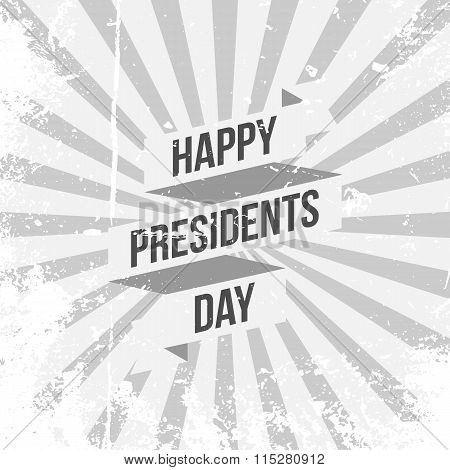 Happy Presidents Day vector Text with Ribbon