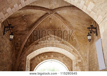 Burgos Arco de Santa Maria arch near Cathedral at Castilla Leon of Spain