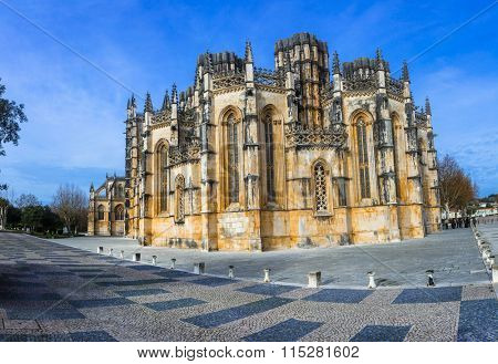 Impressive Monastery of Batalha, UNESCO site, Portugal.