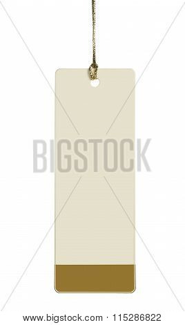 Blank Label With A Rope On A White Background